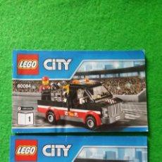 Juegos construcción - Lego: 2 MANUALES DE INSTRUCCIONES DE LEGO 60084 CITY. Lote 76175523