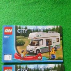 Juegos construcción - Lego: 2 MANUALES DE INSTRUCCIONES DE LEGO 60057 CITY. Lote 76175687