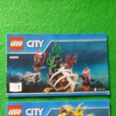 Juegos construcción - Lego: 2 MANUALES DE INSTRUCCIONES DE LEGO 60092 CITY. Lote 76175931