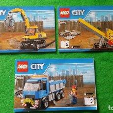 Juegos construcción - Lego: 3 MANUALES DE INSTRUCCIONES DE LEGO 60075 CITY. Lote 76176067
