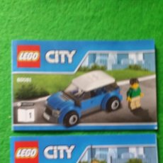 Juegos construcción - Lego: 2 MANUALES DE INSTRUCCIONES DE LEGO 60081 CITY. Lote 76176251