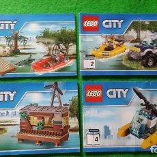 Juegos construcción - Lego: 4 MANUALES DE INSTRUCCIONES DE LEGO 60068 CITY. Lote 76176399
