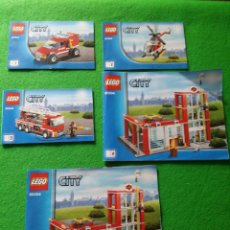 Juegos construcción - Lego: 5 MANUALES DE INSTRUCCIONES DE LEGO 60004 CITY. Lote 76387327