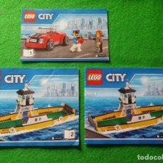 Juegos construcción - Lego: 3 MANUALES DE INSTRUCCIONES DE LEGO 60119 CITY. Lote 76387631