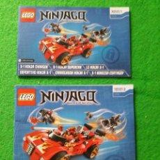 Juegos construcción - Lego: 2 MANUALES DE INSTRUCCIONES DE LEGO 70727 NINJAGO MASTERS OF SPINJITZU. Lote 76388831