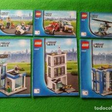 Juegos construcción - Lego: 6 MANUALES DE INSTRUCCIONES DE LEGO 60047 CITY. Lote 76389183