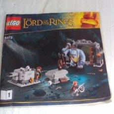 Juegos construcción - Lego: LEGO 9473. THE LORD OF THE RINGS.EL SEÑOR DE LOS ANILLOS. MANUAL DE INSTRUCCIONES. ONLY INSTRUCTION . Lote 77152545