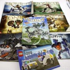 Juegos construcción - Lego: LOTE DE INSTRUCCIONES DE LEGO BIONICLE + CITY - CATALOGO. Lote 79605509