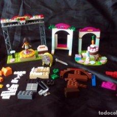Juegos construcción - Lego: LEGO FRIENDS.DIFERENTES PIEZAS DE CUMPLEAÑOS, ESCENARIO,COLUMPIO.. Lote 80456529