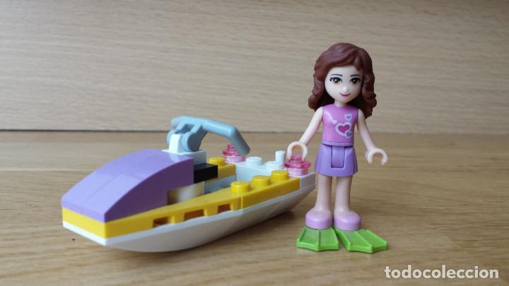 SET LEGO FRIENDS, FIGURA CHICA Y MOTO ACUÁTICA (Juguetes - Construcción - Lego)