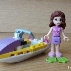 Juegos construcción - Lego: SET LEGO FRIENDS, FIGURA CHICA Y MOTO ACUÁTICA. Lote 85913544