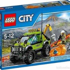 Juegos construcción - Lego: LEGO 60121 CAMIÓN DE EXPLORACIÓN VOLCÁNICA (SERIE LEGO CITY). NUEVO EN CAJA.. Lote 86396120