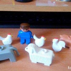 Juegos construcción - Lego: FIGURAS (C)LEGO - DUPLO - ANIMALES Y PERSONA - LOTE DE 9. Lote 86809272