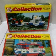 Juegos construcción - Lego: KLIP COLLECTION. 2 ARTÍCULOS. NUEVO EN CAJA. JEEP REMOLQUE Y CAMIÓN COCA COLA. REF KC303 KC302. LEGO. Lote 89405972