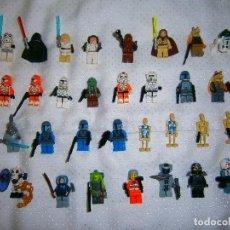 Juegos construcción - Lego: 31 ANTIGUAS MINI FIGURAS LEGO 100% ORIGINALES, EL GENERO ES EN SU MAYORÍA DE STAR WARS. Lote 92155645