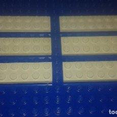 Juegos construcción - Lego: LEGO STAR WARS . SPACE . CITY 6 PLACAS BLANCAS 2X8. Lote 95842479