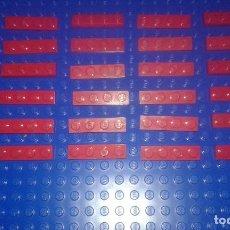 Juegos construcción - Lego: LEGO STAR WARS . SPACE . CITY 30 PLACAS ROJAS 1X4. Lote 96112227