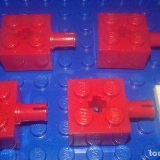Juegos construcción - Lego: LEGO STAR WARS . SPACE . CITY 4 PIEZAS 2X2 CON EJES ROJAS. Lote 96112283