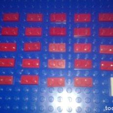 Juegos construcción - Lego: LEGO STAR WARS . SPACE . CITY 33 PLACAS 1X2 ROJAS. Lote 96112363