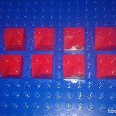 Juegos construcción - Lego: LEGO STAR WARS . SPACE . CITY 10 PIEZAS 2X2 CON 3 ANGULOS ROJAS. Lote 96112415