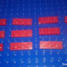 Juegos construcción - Lego: LEGO STAR WARS . SPACE . CITY 11 PLACAS 1X3 ROJAS. Lote 96112447