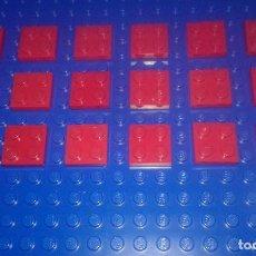 Juegos construcción - Lego: LEGO STAR WARS . SPACE . CITY 18 PLACAS ROJAS 2X2. Lote 96112563