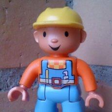 Juegos construcción - Lego: FIGURA LEGO DUPLO OBRERO CASCO AMARILLO . Lote 96452511