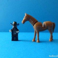 Juegos construcción - Lego: MINIFIGURA LEGO - SHERIFF Y CABALLO - LEGO WEST - OESTE. Lote 96532595