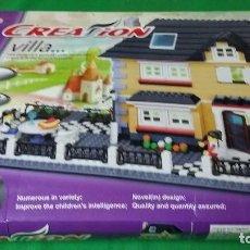 Juegos construcción - Lego: JUEGO CONSTRUCCION VILLA – TIPO LEGO – SET DE 2 CASAS – WANGE TOYS. Lote 97943711