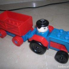 Juegos construcción - Lego: LEGO DUPLO TRACTOR CON REMOLQUE. Lote 99391159