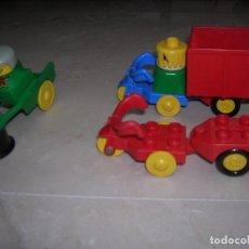 Juegos construcción - Lego: LEGO DUPLO BICICLETAS CON REMOLQUE Y REMOLUE SOLO . Lote 99391267