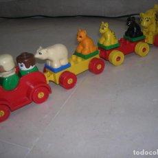 Juegos construcción - Lego: LEGO DUPLO TREN CON 3 VAGONES CON ANIMALES ZOO. Lote 107213378