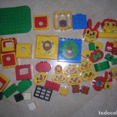 Juegos construcción - Lego: LEGO DUPLO, LOTE DE PIEZAS NO BÁSICAS CON DIBUJOS Y DETALLES. Lote 99391507