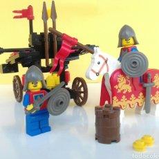 Juegos construcción - Lego: LEGO MEDIEVAL SET 6039-CATAPULTA DOBLE-(1988). Lote 100363783