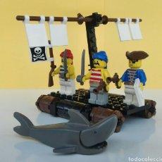 Juegos construcción - Lego: LEGO PIRATAS SET 6257-BALSA NÁUFRAGOS-(1989). Lote 100364350