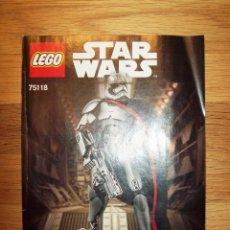 Juegos construcción - Lego: LEGO STAR WARS 75118 BUILDABLE FIGURES [MANUAL DE INSTRUCCIONES]. Lote 100540731