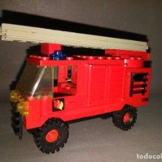 Juegos construcción - Lego: COCHE BOMBEROS LEGO -- AÑOS 80 --- 10 X 7 CMS. Lote 101001611
