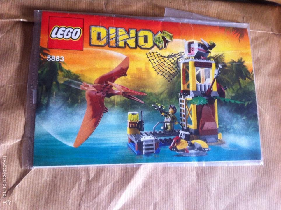 LEGO DINO 5883 LA TORRE DEL PTERANODON DESCATALOGADO DINOSAURIO TERANODON FALTAN DOS (Juguetes - Construcción - Lego)