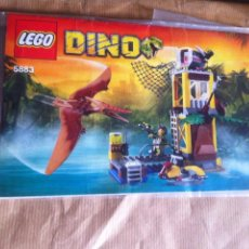 Juegos construcción - Lego: LEGO DINO 5883 LA TORRE DEL PTERANODON DESCATALOGADO DINOSAURIO TERANODON FALTAN DOS. Lote 101537384