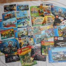 Juegos construcción - Lego: LOTE 25 CATALOGOS FOLLETOS DE LEGO, GRAN SURTIDO. Lote 108310691