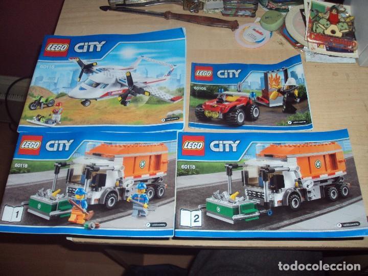 LOTE 4 MANUALES DE INSTRUCCIONES DE LEGO CITY (Juguetes - Construcción - Lego)
