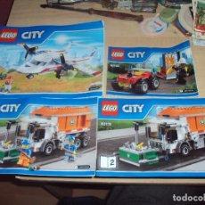 Juegos construcción - Lego: LOTE 4 MANUALES DE INSTRUCCIONES DE LEGO CITY. Lote 108442591