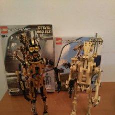 Juegos construcción - Lego: LEGO TECHNIC 8001 Y 8007 - DROIDE DE COMBATE + AT-ST Y C-3PO + NAVE ESPACIAL - STAR WARS EPISODIO I. Lote 108825263