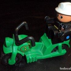 Juegos construcción - Lego: FIGURA Y MOTO LEGO INFANTIL 80'S. Lote 108891835