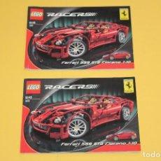 Juegos construcción - Lego: LEGO MANUAL RACERS FERRARI REF: 8145. Lote 109069075