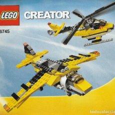 Juegos construcción - Lego: *** K134 - CATALOGO LEGO CREATOR 6745. Lote 112261655