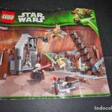 Juegos construcción - Lego: LEGO STAR WARS INSTRUCCIONES 75017 YODA CONTRA COUNT DOOKU DUELO EN GEONOSIS. Lote 112915735