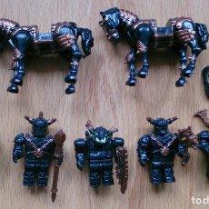 Juegos construcción - Lego: LOTE MEGA BLOKS MINIFIG 5 GUERREROS . Lote 114169983