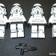 Juegos construcción - Lego: LEGO, LOTE 4 FIGURAS STAR WARS, STORMTROOPER SERGEANT, SARGENTO. Lote 114710975