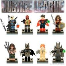 Juegos construcción - Lego: LOTE DE 8 FIGURAS LA LIGA DE LA JUSTICIA DC. Lote 109059107